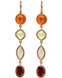 Darlene De Sedle - Long Drop Multi Gemstone Earrings - Lyst