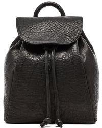 Mr. Parker Drawstring Backpack - Black