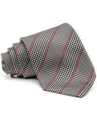 RVR | Black Houndstooth With Wine Stripe Tie | Lyst