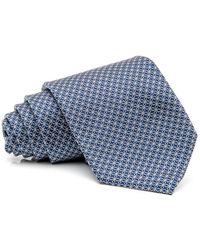 RVR | Blue And Silver Geometric Tie | Lyst