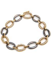 Sylva & Cie - Diamond Link Bracelet - Lyst