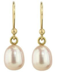 Ted Muehling - Small Pink Pearl Earrings - Lyst