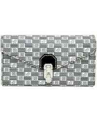 Moreau Gray And White Faubourg 49 Crossbody