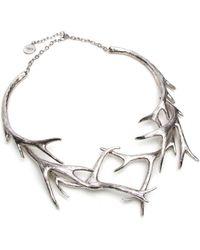 Nest | Silver Antler Collar Necklace | Lyst