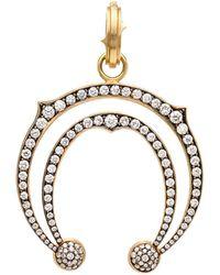 Sylva & Cie   Double Horseshoe Diamond Pendant   Lyst