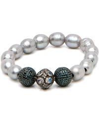 Hannah Ferguson - Pearl Moon Bead Bracelet - Lyst