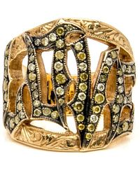 Loree Rodkin - Etched Love Ring - Lyst