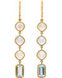 Darlene De Sedle - Aquamarine And Moonstone Drop Earrings - Lyst