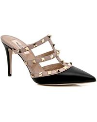 13dcd23757d Lyst - Valentino Rockstud Pump Poudre Patent in Natural