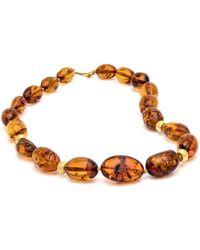 Darlene De Sedle - Cognac Amber Oval Bead Necklace - Lyst