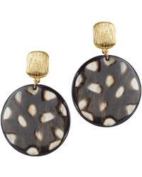 Nest - Spotted Horn Disc Earrings - Lyst