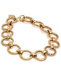 Ashley Pittman - Daima Hammered Bronze Link Necklace - Lyst