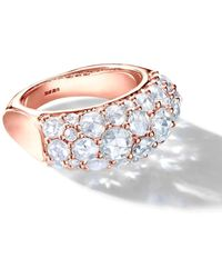 64 Facets Rose Gold Diamond Cluster Ring - Black