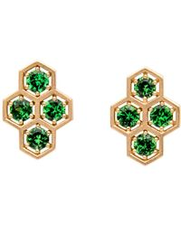 Roule & Co. - Tsavorite Hexagon Drop Stud Earrings - Lyst