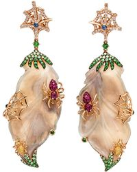 Wendy Yue - Opal Spider Earrings - Lyst