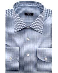 Marol Skipper Blue Graph Check Dress Shirt