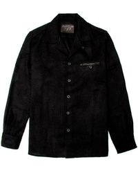 Robert Comstock - Black Knit Overshirt - Lyst