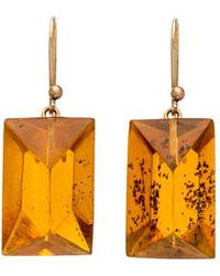 Ted Muehling - Handcut Amber Gem Earrings - Lyst