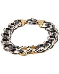 Sylva & Cie - Large Link Diamond Bracelet - Lyst