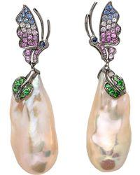 Wendy Yue - Butterfly Pearl Drop Earrings - Lyst