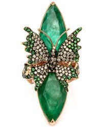 Wendy Yue - Emerald Butterfly Ring - Lyst