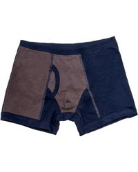 VK Nagrani - Navy And Grey The Woody Boxer Brief - Lyst