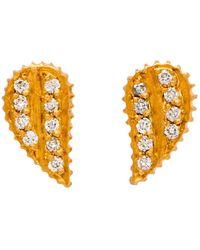 Yossi Harari - Lilah Diamond Wing Stud Earrings - Lyst