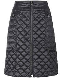 Bogner Black Zaraya Quilted Mini Skirt