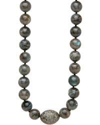 Hannah Ferguson Gray Labradorite Necklace - Black