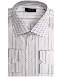 Marol - Blue And Tan Multi Stripe Dress Shirt 40 Metric - Lyst