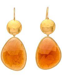 Darlene De Sedle - Hessonite Garnet Sundisc Earrings - Lyst