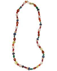 Darlene De Sedle | Large Good Luck Navaratna Necklace | Lyst