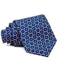 Dolcepunta - Blue With Yellow Geometric Tie - Lyst