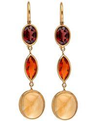 Darlene De Sedle - Multi Gemstone Tripe Drop Earrings - Lyst