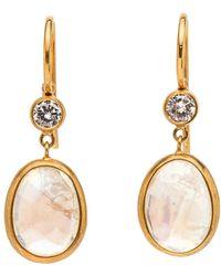 Darlene De Sedle - Diamond And Moonstone Earrings - Lyst