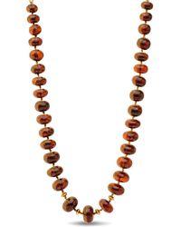 Darlene De Sedle Amber Bing Cherry Beaded Necklace - Black