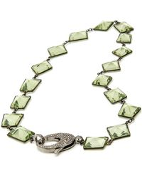 Hannah Ferguson - Green Quartz Wire Wrap Necklace - Lyst