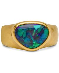 Darlene De Sedle Black Opal Triangular Ring