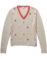 Kule The Kai V Neck Sweater In Cappucino Xs - Gray
