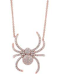Samira 13 - Diamond Pave Spider Necklace - Lyst