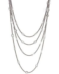 64 Facets One Of A Kind Diamond Long Necklace - Black