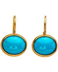 Darlene De Sedle - Cabochon Turquoise Oval Earrings - Lyst