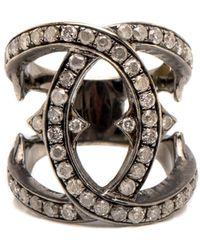 Loree Rodkin - Interlinked Diamond Ring - Lyst