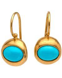Darlene De Sedle - Oval Turquoise Earrings - Lyst