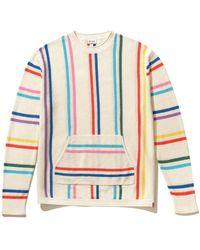Kule The Taryn Pullover In Rainbow Stripe - Multicolor