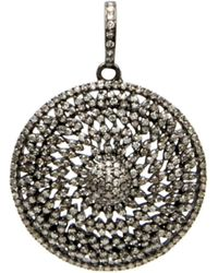 Hannah Ferguson Circle Within Circle Pendant - Black