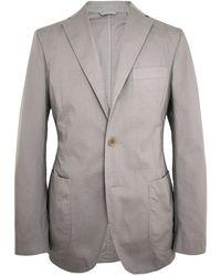 Belvest - Stone Garment Dyed Sportcoat - Lyst