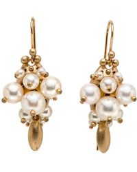 Ted Muehling - White Pearl Bug Cluster Earrings - Lyst