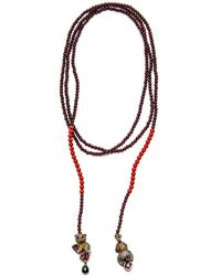 Wendy Yue - Coral And Garnet Bead Necklace - Lyst