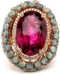wendy yue rubellite and opal ring lyst